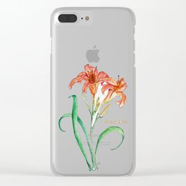 Hemerocallis (Day Lily) Clear iPhone Case