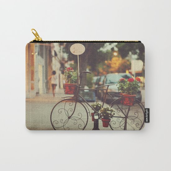 The bike with the flowers Carry-All Pouch