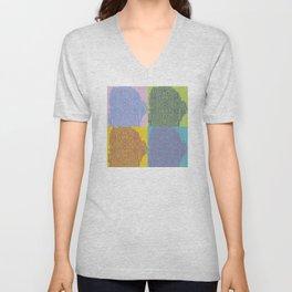 Pop Art Fingerprint Maze Abstract Unisex V-Neck