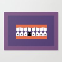 rooster teeth Canvas Prints featuring teeth by Tr. H