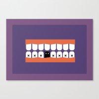 teeth Canvas Prints featuring teeth by Tr. H