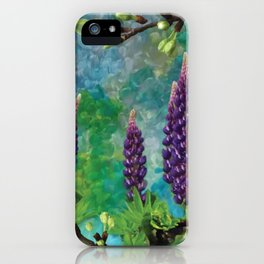 For The Love Of Lupines by annmariescreations iPhone Case
