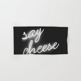 Say Cheese (Black and White) Hand & Bath Towel