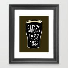 a pint of stout: stresslessness Framed Art Print