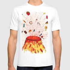 Desserts Erupt~~ Mens Fitted Tee MEDIUM White