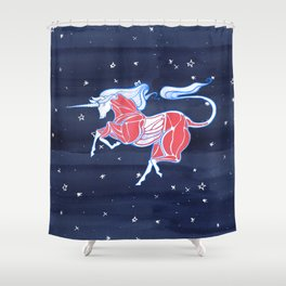 Cross-Section of a Unicorn Shower Curtain
