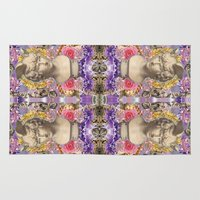 holographic Area & Throw Rugs featuring mercury dreams of amethyst olympus by STORMYMADE