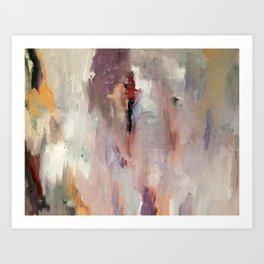 Gentle Beauty [2] - an elegant acrylic piece in deep purple, red, gold, and white Kunstdrucke