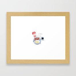 Bacon and eggs Framed Art Print