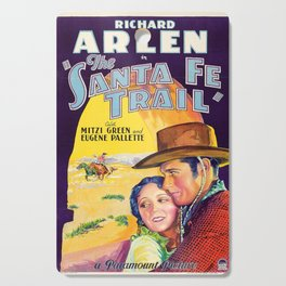 Classic Movie Poster - The Santa Fe Trail Cutting Board