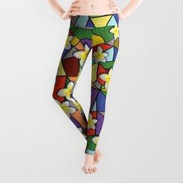 Mosaic Plumeria Leggings