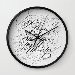 Strong People White Wall Clock