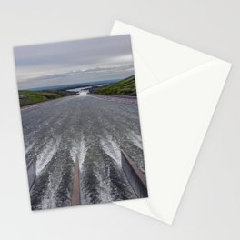 Rushing Water, Fort Peck Dam Spillway, Montana Stationery Cards