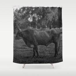 Guard Bull Shower Curtain