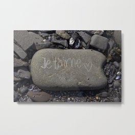 Found this stone on the shore Metal Print