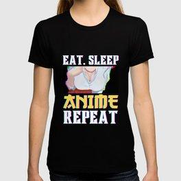Eat Sleep Anime Repeat I Anime Lover T-shirt