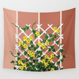 Black-Eyed Susans on Browns Wall Tapestry