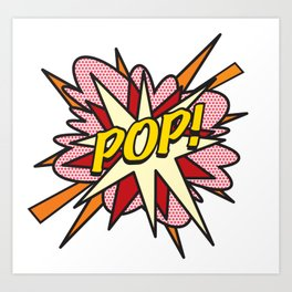 POP Comic Book Flash Pop Art Art Print