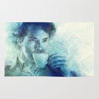 tea Area & Throw Rugs featuring Tea by Anna Dittmann