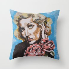 Carole Lombard Throw Pillow