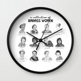 A Collection of Badass Women Wall Clock
