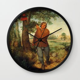 "Pieter Bruegel (also Brueghel or Breughel) the Elder ""The Peasant and the Nest Robber"" Wall Clock"