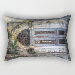 Derelict Doorway Rectangular Pillow