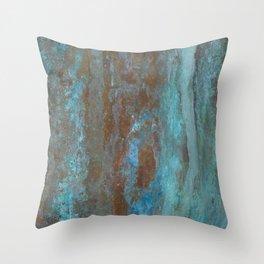 Patina Bronze rustic decor Throw Pillow