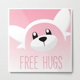 Free Hugs Bewear Metal Print