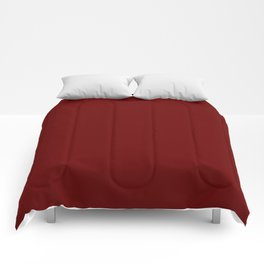 Blood Red - solid color Comforters