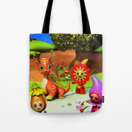 The Flowerdroplets and the Leafdragon Tote Bag