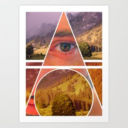 Eye Vs Mountain  Art Print