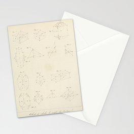 Vintage Scientific Print - 1824 - Crystal Geometry Stationery Cards