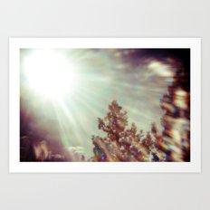 The Glaring Sun Art Print