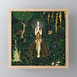 1921 Classical Masterpiece 'Flowers and Flames' by Kay Nielsen Framed Mini Art Print
