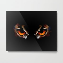 Owl Eyes - bird illustration, digital painting, animal art Metal Print