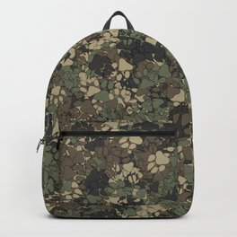 Wolf paw prints camouflage Backpack