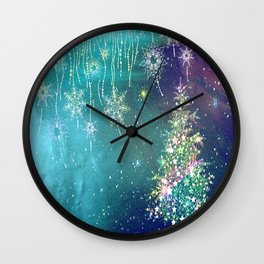 Winter Design QR Wall Clock