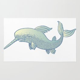 saber-toothed dolphin Rug