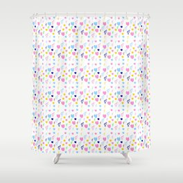 heart and transgender 4 multicolor Shower Curtain