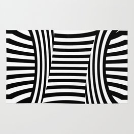 Retro Black And White Rug