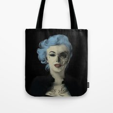 Screwed and Tattooed, Rockabilly Marilyn.  Tote Bag