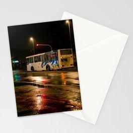 Night bus Subotica Stationery Cards