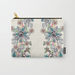 Wire Floral Carry-All Pouch