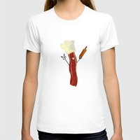 baking T-shirts featuring The Baking Bacon by Amplified27