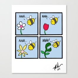 Bee Cool, Flowers! Canvas Print