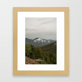Colorado mountain view Framed Art Print