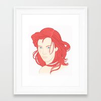 ariel Framed Art Prints featuring Ariel by StudioBlueRoom