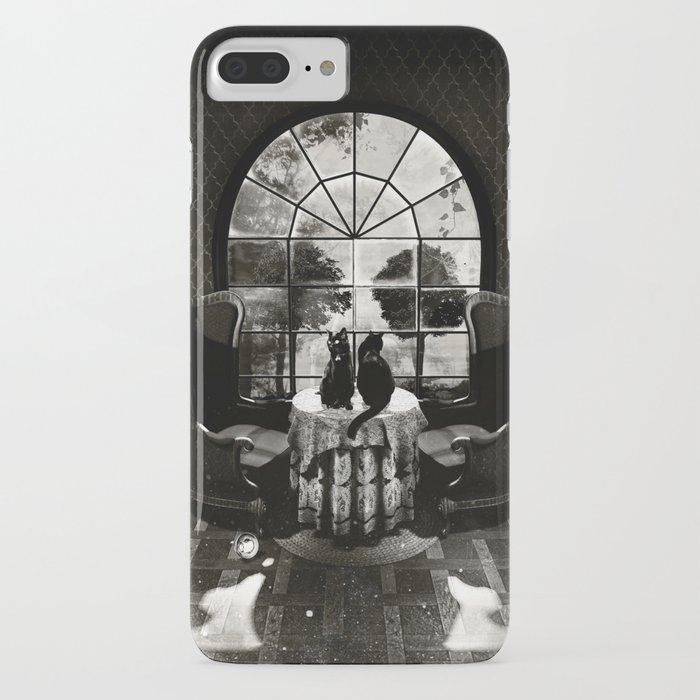 room skull b&w iphone case