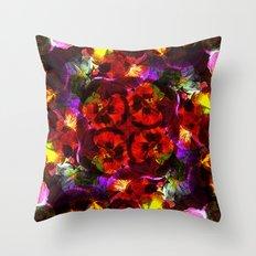 Flower Kaleidoscope  Throw Pillow
